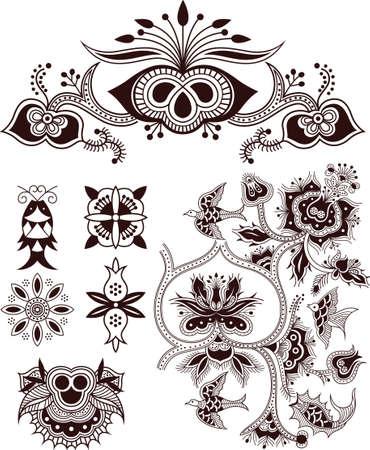 golondrinas: Aves Peces floral