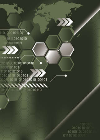 hexagon background: Abstract Green Background