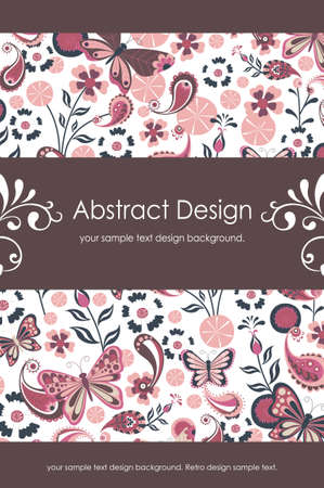15: Floral Abstract Background 1-5 Illustration