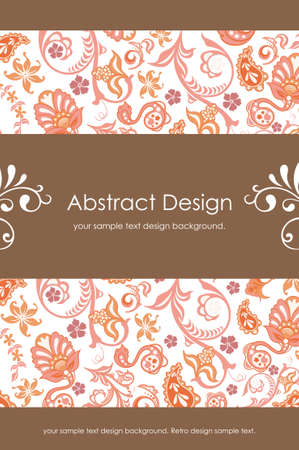 Floral Abstract Background 1-5 Illustration