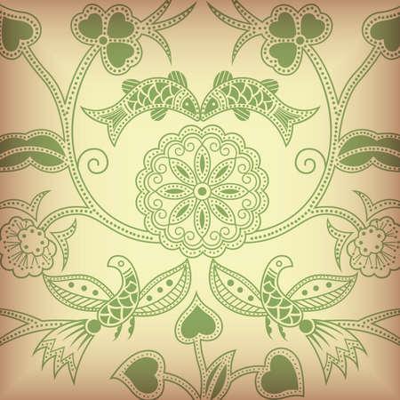 Floral Abstract Bird Stock Vector - 5071299