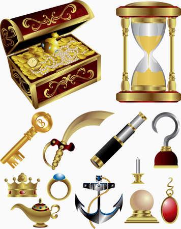 Treasure Fairy Tale Elemente Vektorgrafik