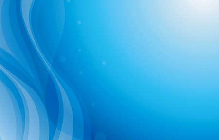Blue Curve Background  Illusztráció