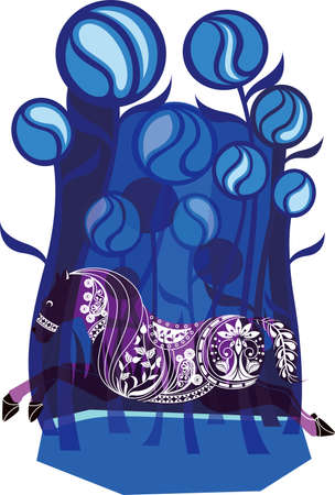 Abstract Horse Story Vector