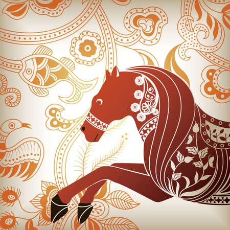 Floral Abstract Horse 2