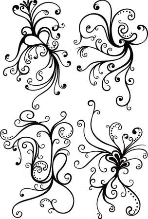 Swirl Floral Elements Stock Vector - 5457373