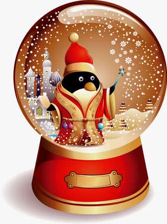 Water Globe Penguin Stock Vector - 5567125