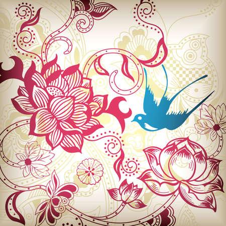 golondrinas: Resumen florales y de Aves
