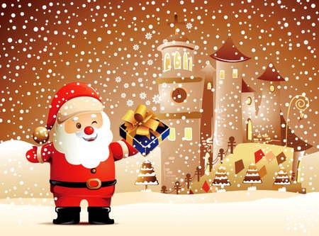 Christmas Cartoon Character  Vector