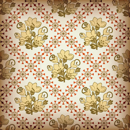 Abstract Floral Pattern SEAMLESS 3