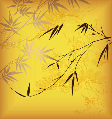 cherry blossom tree: Bamboo 3 Illustration