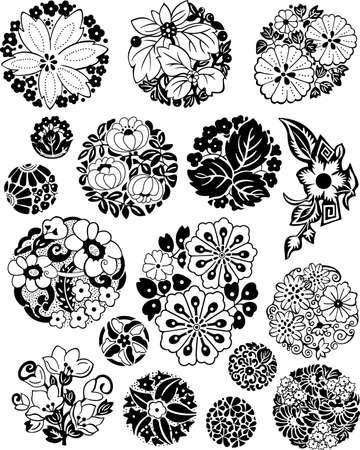 floral elements: Japanese Floral Balls