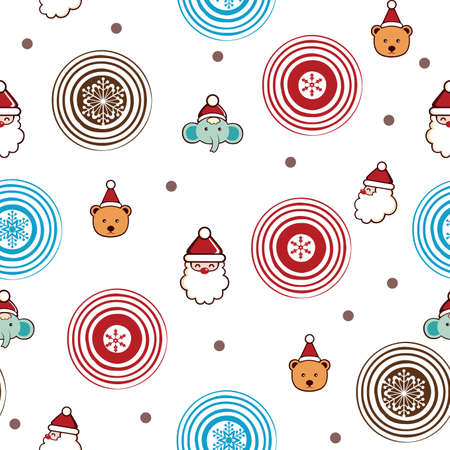 Christmas Cartoon Character Pattern SEAMLESS  Vector