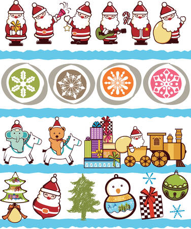 Illustration of Christmas Ornament Pattern in SEAMLESS. Vector