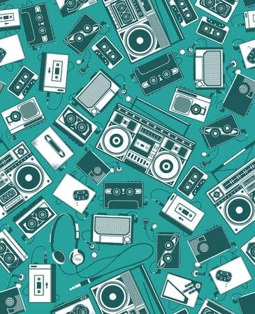 radio retr�: Retro Radio Vettoriali