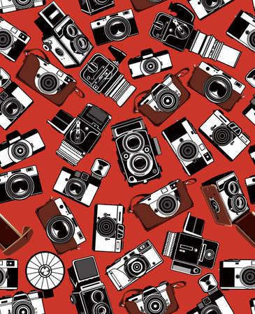 photography backdrop: Retro Camera Illustration