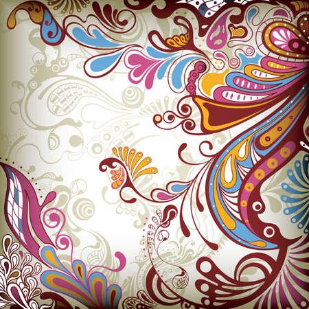 blumen abstrakt: Abstrakte Floral 3 Illustration
