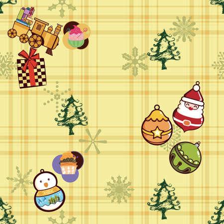 christmas train: Christmas Pattern SEAMLESS