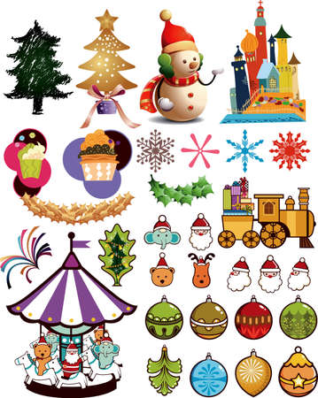 circus elephant: Christmas Design Elements 3