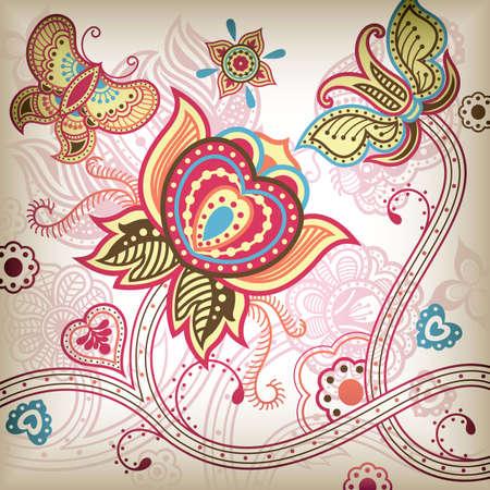 Vector de Abstract Butterfly Floral. Foto de archivo - 6285192