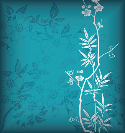 Bamboo and Blossom 1 Vector