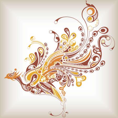 fenice: Bird astratta