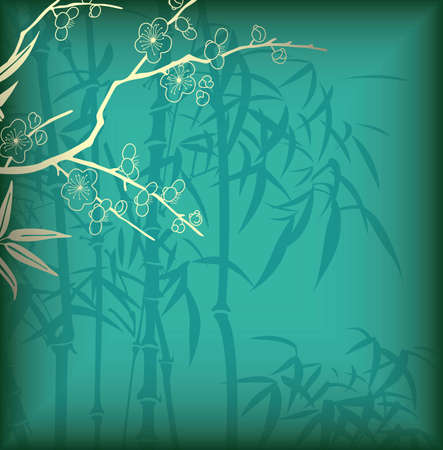 Bamboo and Blossom Vector