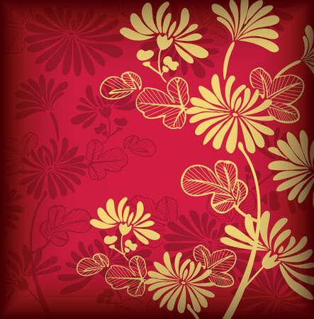 Asia fondo floral para vacaciones Ilustración de vector
