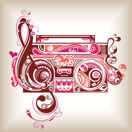 music abstract: Retro Radio Illustration
