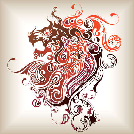 Abstract Lion Head Vector
