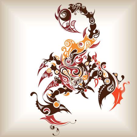 Abstract Scorpion Illusztráció