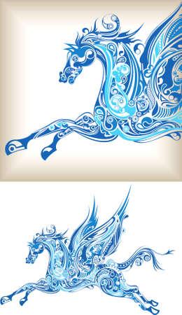 mythological: Pegasus Abstract