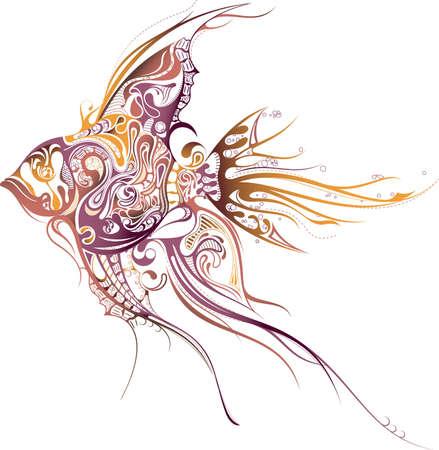 熱帯: 熱帯の魚  イラスト・ベクター素材