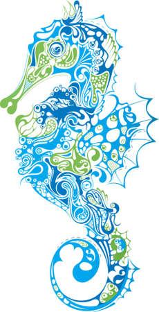 caballo de mar: Vida de mar 7  Vectores