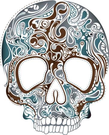 Skull Abstract Ilustração