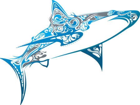 wild life: Shark Illustration