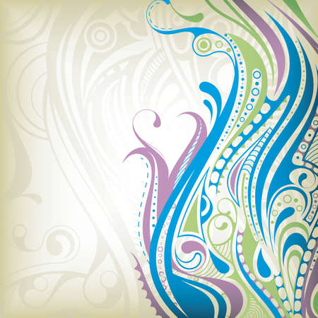 abstract floral background: Abstract Curve Background