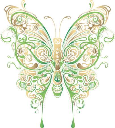irregular shapes: Mariposa  Vectores