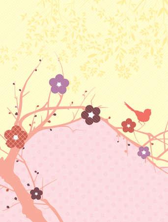 Blossom Bird Vector