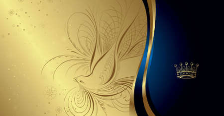 royal blue: Royal Dove and Floral Background 1