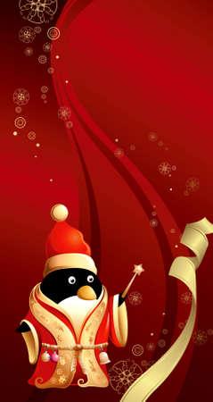 Christmas Penguin Vector