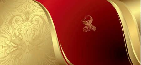 Royal Gold and Red Background Vector