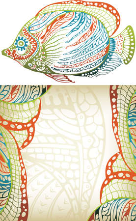 Abstract Tropical Fish Vector