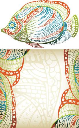 Abstractos tropical Fish  Foto de archivo - 8093250