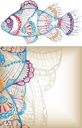pez abstracto: Fish abstracta