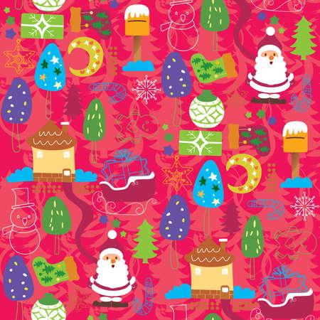 Seamless Christmas Pattern 5 Vector