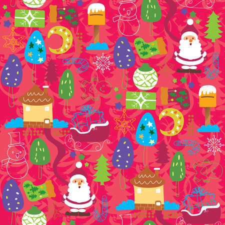 Seamless Christmas Pattern 5 Vector