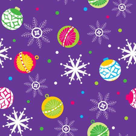 Seamless Christmas Pattern 1 Vector