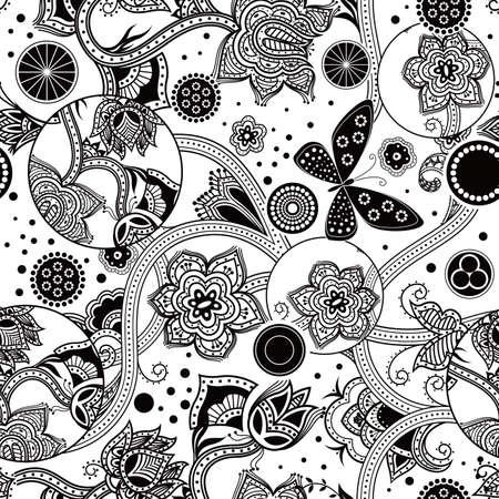Seamless Floral Pattern Ilustração