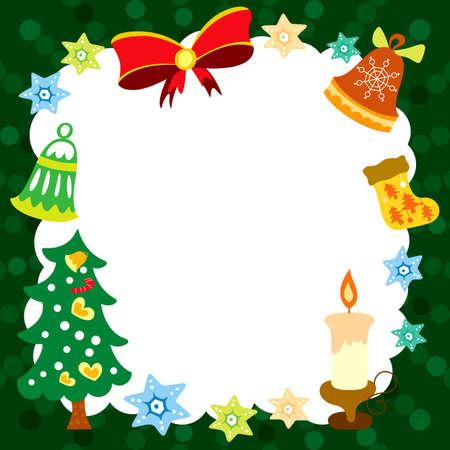 hexagram: Abstract Christmas Card Frame